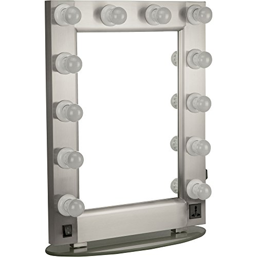 Professional 12 LED Light Glass Stand Tabletop Wall Mounted Tabletop Makeup Cosmetic Beauty Hairstylist Mirror by Hiker (Image #3)