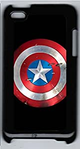 iPod 4 Cases & Covers - Circle Star Pattern PC Custom Soft Case Cover Protector for iPod 4 - Black