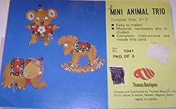 Vintage Lee Wards Thomas Boutiques Mini Animal Trio Beaded Ornament Kit Makes 3