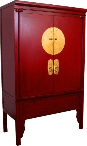 Chinesischer Hochzeitsschrank rot: Amazon.de: Küche & Haushalt