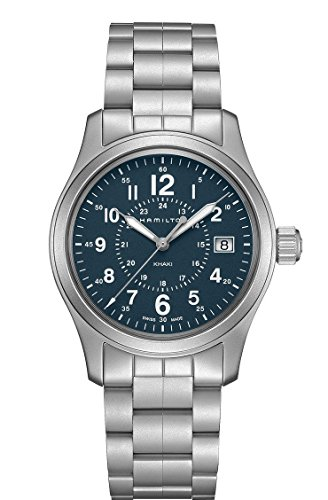 Hamilton Khaki Field Quartz H68201143 Blue / Silver Stainless Steel Analog Quartz Men's Watch