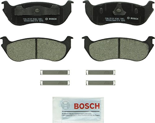 Bosch BC881 QuietCast Premium Ceramic Disc Brake Pad Set For Ford: 2002-2005 Explorer, 2007-2008 Explorer Sport Trac; Mercury: 2002-2005 Mountaineer; Rear