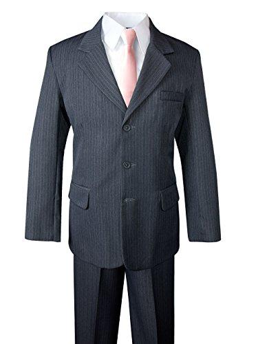 ys' Pinstripe Suit Set Grey/Blush Pink 14 ()