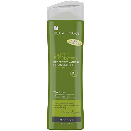 Gel Cleansing Combination Skin - Paula's Choice EARTH SOURCED Perfectly Natural Cleansing Gel, 6.7 oz Bottle, Face Wash for Normal Oily Combination Sensitive Skin