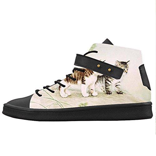 Canvas Women's Gatti Di Scarpe Pittura Shoes Scarpe Custom Le ZqatIxwnw