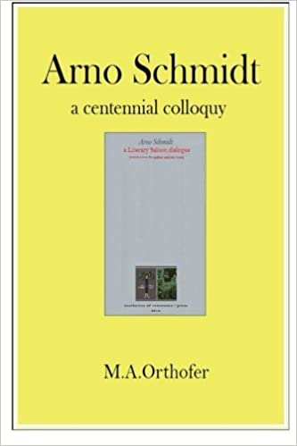 Book Arno Schmidt by M.A. Orthofer (2014-11-08)