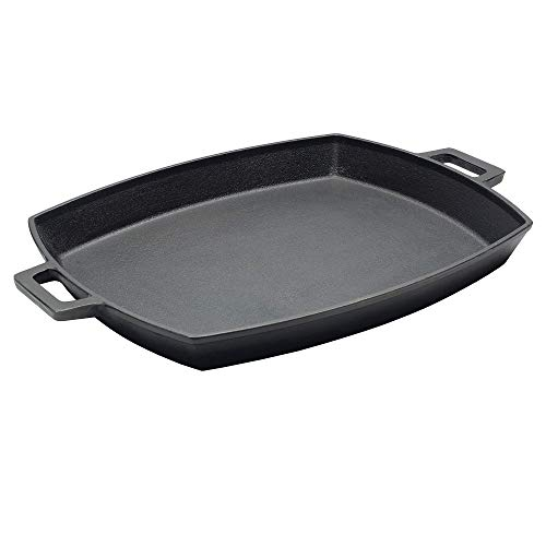 Bayou Classic 7471, 12 x 14-in Cast Iron Shallow Baking Pan