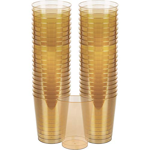Big Party Pack Plastic Cups | 10 oz. | Gold | Pack of 72 | Party Supply -
