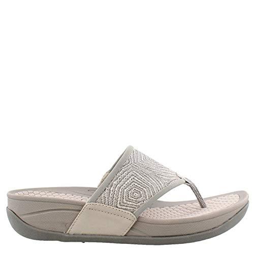 BareTraps Women's, Dasie Low Heel Sandals (9.5 M, Silver)