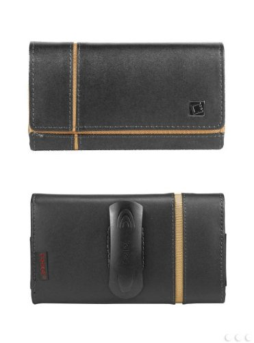 Nokia Lumia 900 High Grade Leather Verona Case Pouch with Fixed Belt Clip and hidden magnet flap