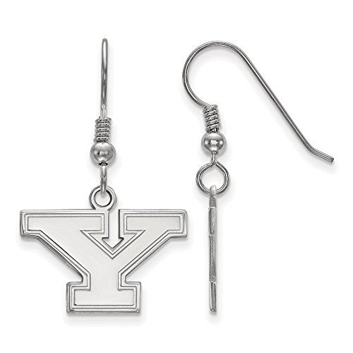 925 Sterling Silver Officially Licensed Youngstown State University College Small Dangle Wire Earrings (13 mm x 19 mm) by Mia's Collection