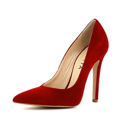 Evita Shoes Lisa Escarpins Femme Daim Rouge pHMmj2