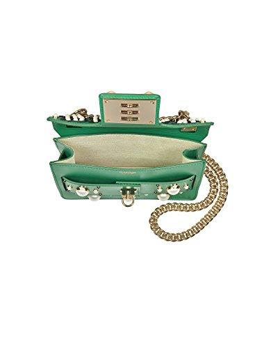 Salar Borsa A Spalla Donna SR18MLHG16MINT Pelle Verde