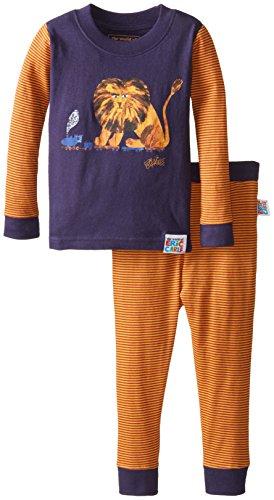 INTIMO Boys' Toddler Eric Carle Lion Pajamas, Navy, 5T