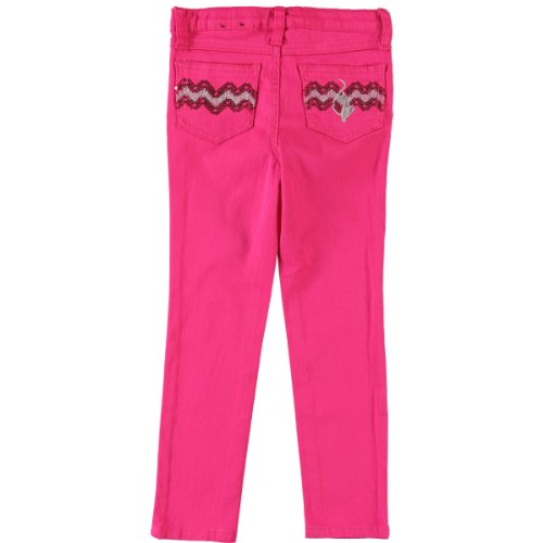 Baby Phat Little Girls Colored Twill Pant Hot Pink 2T