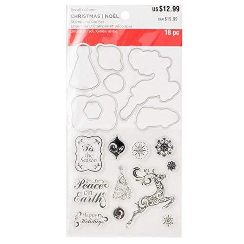 Reindeer Die - Recollections Christmas Stamp & Die, Reindeer Flourish