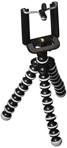 Rienar Flexible iPhone Tripod,Octopus Style Lightweight Mini Portable Adjustable Tripod Stand Holder for Cellphone,Camera with Universal (Tripod For Iphone 6)