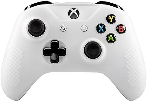 eXtremeRate Funda Silicona para Mando Xbox One Carcasa Suave Cubierta Antideslizante Protectora para Mando Controlador de Xbox One S/X con Dos Grips de Joyticks(Blanco): Amazon.es: Electrónica