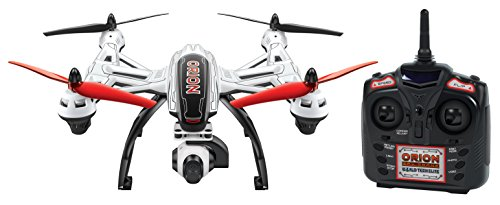 World Tech Toys Elite Orion 1-Axis Gimbal 2.4GHz 4.5CH RC HD Camera Drone, Red/Black/White, 20.75 x 13 x 8 (Mini Orion Live Feed Lcd Screen Drone)