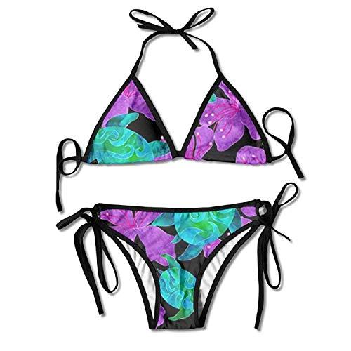 Women Midnight Sea Turtles Sexy Bikini Set Swimsuit Bathing Suit