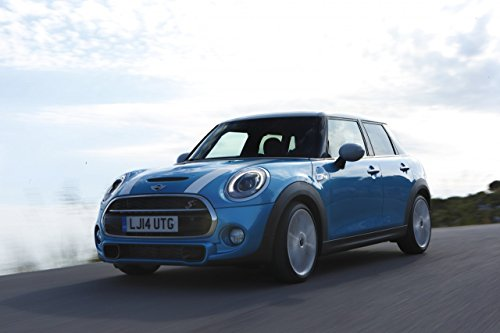Mini 5 Door  Car Art Poster Print on 10 mil Archival Satin P