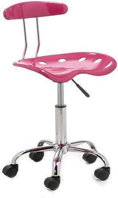 silla escritorio juvenil, color rosa: Amazon.es: Hogar