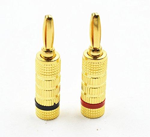 Speaker banana plug,Crimp & Twist Closed Screw Audio Banana Plugs for Speaker Wire (8pair) by Siren