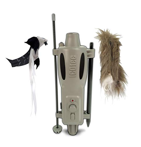 - Icotec PD200 Stand Alone Predator Decoy - Lightweight, Compact, and Quiet - Includes Speed Dial, Intermittent Motion, LED Lights, and 2 Quick Change Toppers