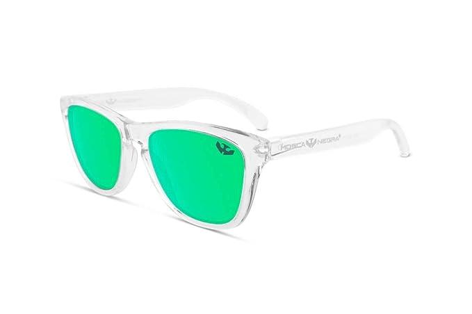 Gafas de sol MOSCA NEGRA ® modelo ALPHA TRANSPARENT Green- Polarizadas - Gafas hombre mujer efecto espejo verde
