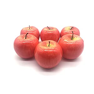 Maggift Artificial Fruits 6 pack,Decorative Fruit (Apple Red) 4