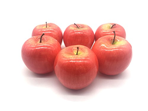 Maggift-Artificial-Fruits-6-packDecorative-Fruit-Apple-Red