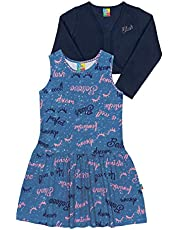 Vestido Cotton E Bolero Infantil Moletom Bee Loop