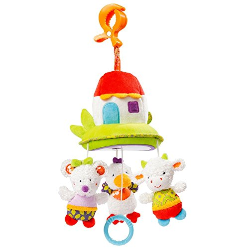 Fehn 70118 Babyspielzeug Mini - Musik - Mobile Haus