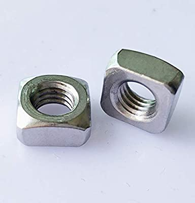 100 Pieces M3 Square Nuts 304 Stainless Steel Square Nuts Thread Nuts Machine Screw Nuts Fastener Tools
