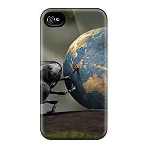 Tpu Fashionable Design Earth Beetle Rugged Case Cover For Iphone 4/4s New