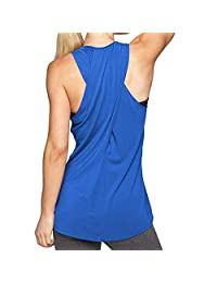 3addf211447f Clothing Kingfansion    Women's Cross Back Yoga Shirt Workout Active ...
