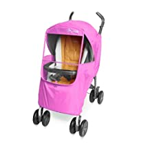 Manito Elegance Plus Stroller Weather Shield/Rain Cover, Pink