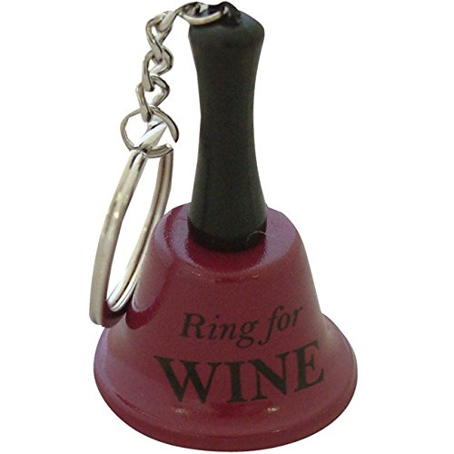 Ring for Wine Keychain Bell Christmas Xmas Holiday Stocking Filler Secret Santa Novelty Present