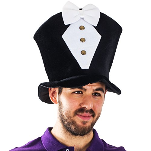 Groom Top Hat (Tigerdoe Costume Hats For Adults - Tuxedo Costume - Groom Hat - Costume Top Hats by)