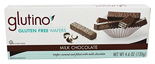 Glutino - Gluten Free Wafer Cookies Chocolate Coated - 4.6 oz (pack of 2)
