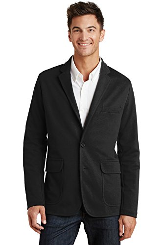 (Port Authority Mens Knit Blazer (M2000) -BLACK -M)