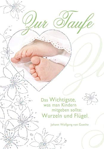 Karte Zur Taufe Basic Classic Karte Zur Geburt Füße 116 X 166 Cm