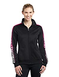 Sport-Tek Women's Dot Sublimation Tricot Track Jacket