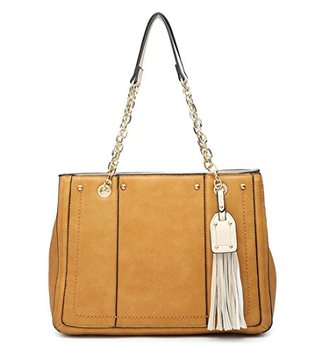 Shoulder Large Elegant Strap Ladies Fashions Bag lt; New Shopper Tassel Design Strap Bag Brown Womens Tote Shoulder Long POFqrPw