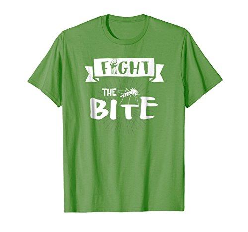 Bite Green T-shirt - Mens Fight the Bite Mosquito Tee Shirt Texas blood suckers pest 3XL Grass