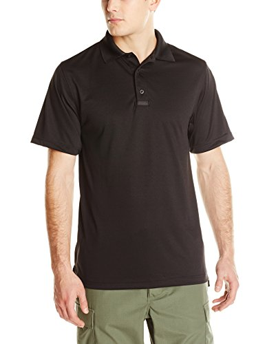 TRU-SPEC Men's Performance 24-7 Polyester Short Sleeve Polo Shirt, Black, Medium - - Sunglasses Firefighter