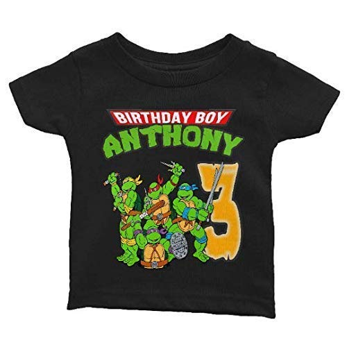 Personalize TMNT Birthday Shirt