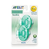 Philips Avent SCF190/01 Soothie 0-3mth Green/Green, 2pk