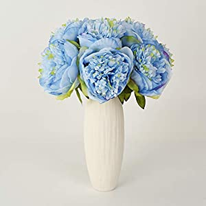 Lvydec Vintage Peony Artificial Flowers - 2 Pack Silk Flowers Bouquet 10 Heads Peony Fake Flowers for Wedding Home Decoration 3