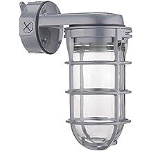 Lithonia Lighting VW150I M12 150W Incandescent Utility Vapor Tight Wall Mount Fixture, Grey